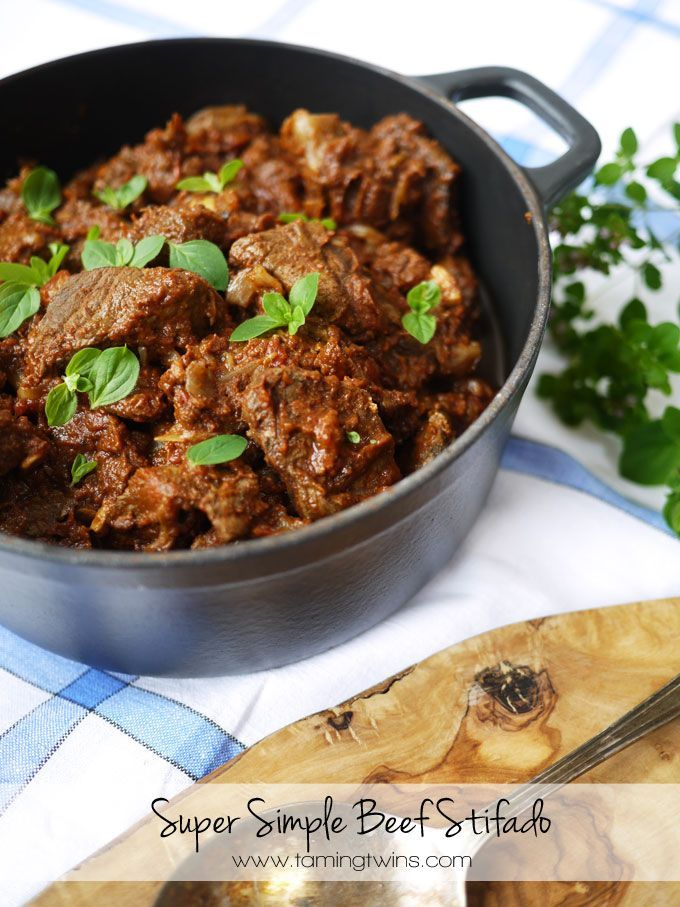 A super simple Slimming World Beef Stifado recipe. The classic Cypriot beef stew, slow cooked casserole, perfect for freezing to enjoy later.