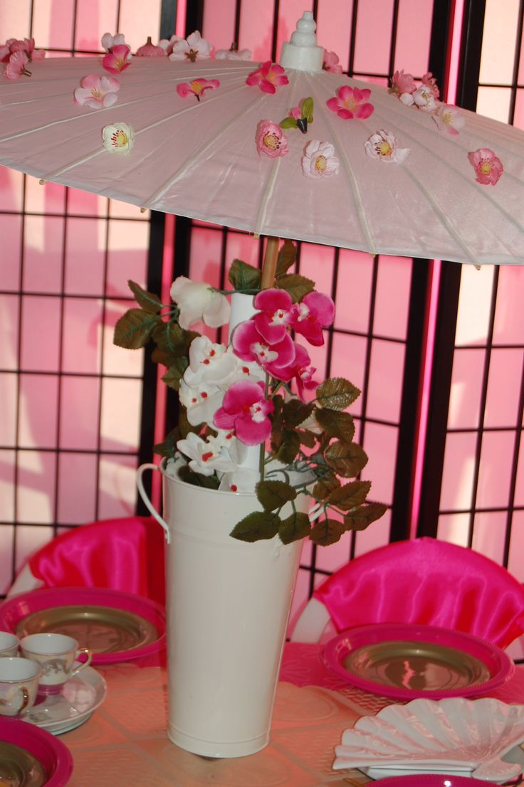 Wish Upon a Party Perth- Chinese Tea Party Hire - Table umbrella