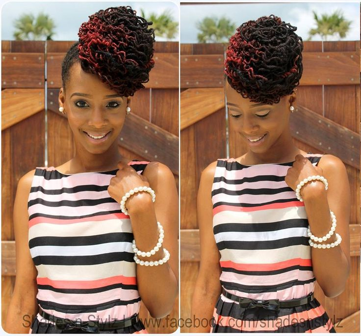 Incredible 1000 Images About Loc Updos On Pinterest Short Hairstyles For Black Women Fulllsitofus
