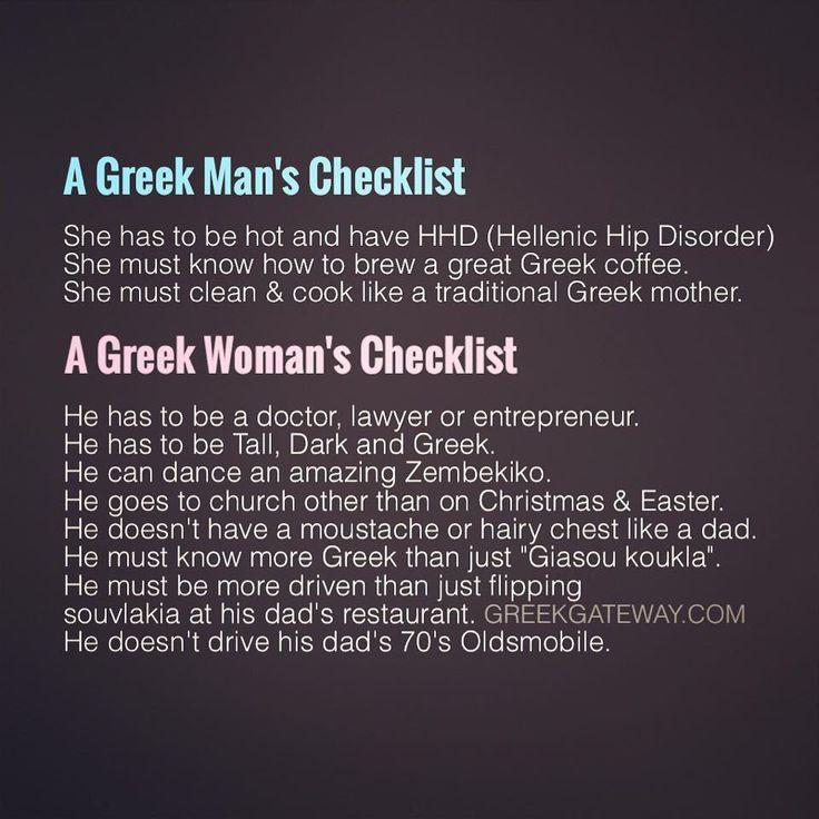 The Greek Checklist