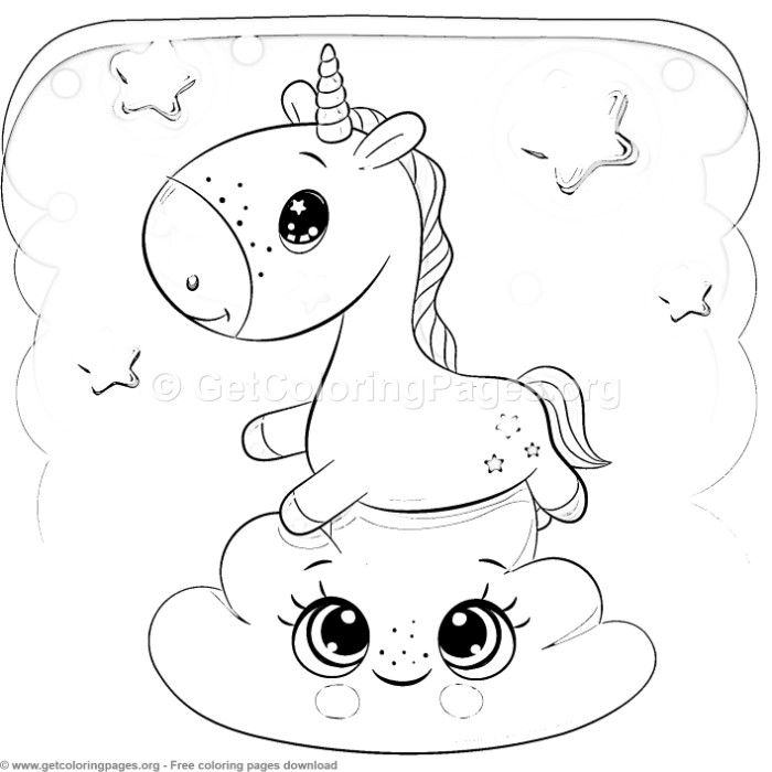 11 Cute Cartoon Unicorn Coloring Pages With Images Unicorn