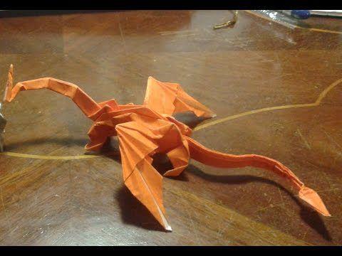 "Origami - How to make an origami dragon - intermediate level - ""MUKONO DRAGON"" - YouTube"