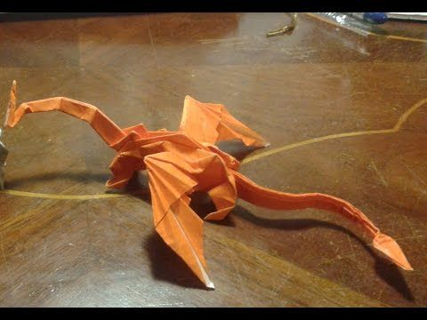 Origami - How to make an origami dragon - intermediate level - YouTube