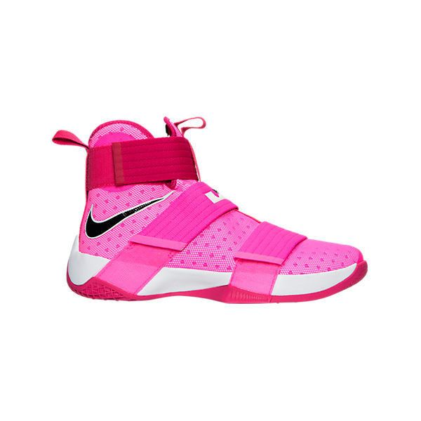 Nike Men's LeBron Soldier 10 Basketball Shoes ($130) ❤ liked on Polyvore featuring men's fashion, men's shoes, men's athletic shoes, pink, nike mens athletic shoes, mens perforated shoes, mens shoes and mens lightweight running shoes