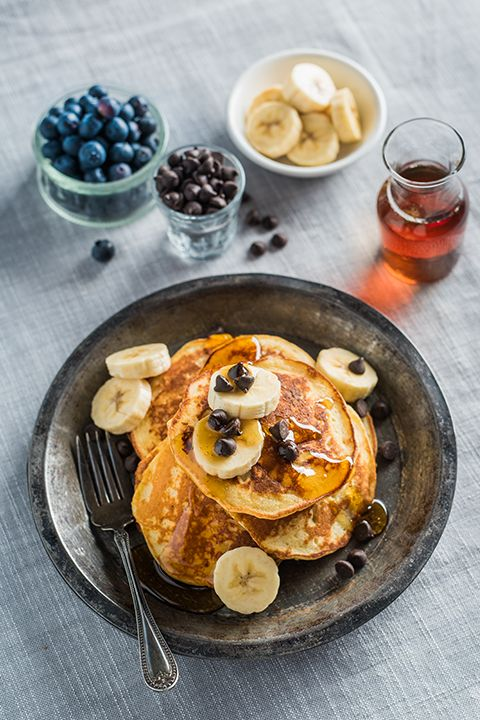 INGREDIENTS BY SAPUTO | Need some brunch recipe ideas? How about a big stack of pancakes made with bananas, maple syrup and Saputo Ricotta cheese? Sounds pretty sweet to us!
