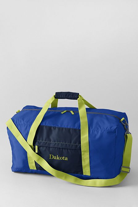 Large Solid Packable Duffel Bag From Lands End Camp
