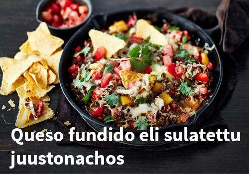 Queso fundido eli sulatettu juustonachos, resepti: Valio #kauppahalli24 #resepti #juustonachos #verkkoruokakauppa
