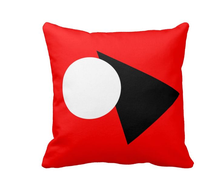 Abstract red - geometric ornament as element of home decoration. #pillows #home #decor #abstrat #interior #painting #art