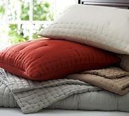 POTTERY BARN quilts & shams