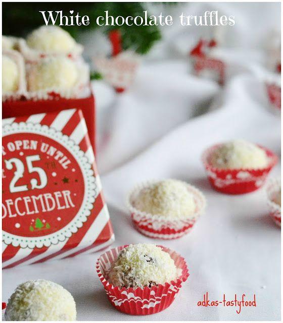 .. chute a vône mojej kuchyne...: Truffle z bielej čokolády a brusníc