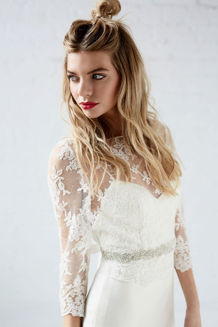 Fawn | Lace Topper | Wedding Gown Topper | Charlotte Balbier