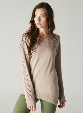 Mocha Asymmetric Sweater | Evelyn and Irwin