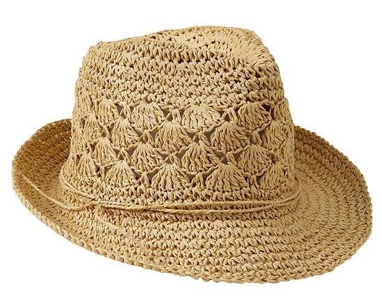 We love this Crochet-Straw Fedora from Old Navy! $14.94 (Plus 4% Cash Back)