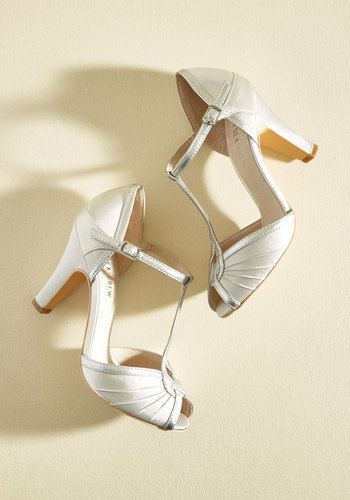 Vintage Style Wedding 1920s Heels The Chance to Dance Heel $64.99 AT vintagedancer.com