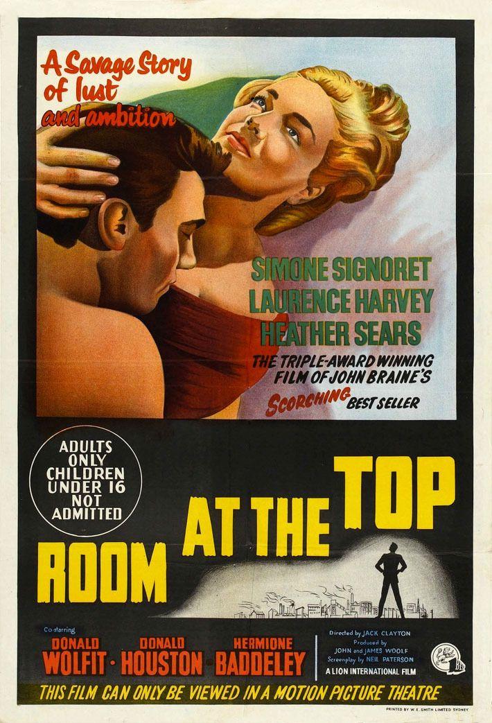 Un Lugar En La Cumbre Room At The Top De Jack Clayton 1959 Carteles De Película Antiguos Carteles De Cine Afiche De Pelicula