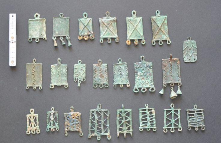 Amlash bronze pendants size, 1st millenium B.C. Private collection
