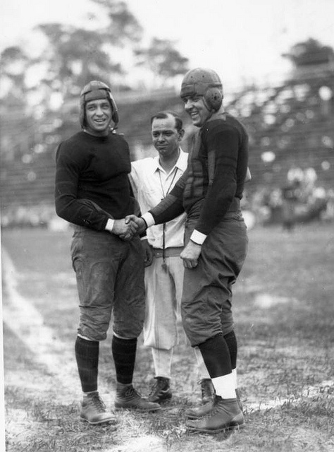 Local call number: PHF005    Title: University of Miami football player shaking opponent's hand: Coral Gables, Florida    Date: ca. 1928    Physical descrip: 1 glass photonegative - b - 7 x 5 in.    Series Title: Fishbaugh collection    Repository: State Lib Sport is  great way to keep fit. Enjoy football and play like a pro, or at least have some fun. More at: www.discountfootballkits.net