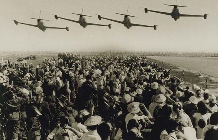 Pérez de Rozas. Ejército del Aire en las Fiestas de la Mercè, 1956