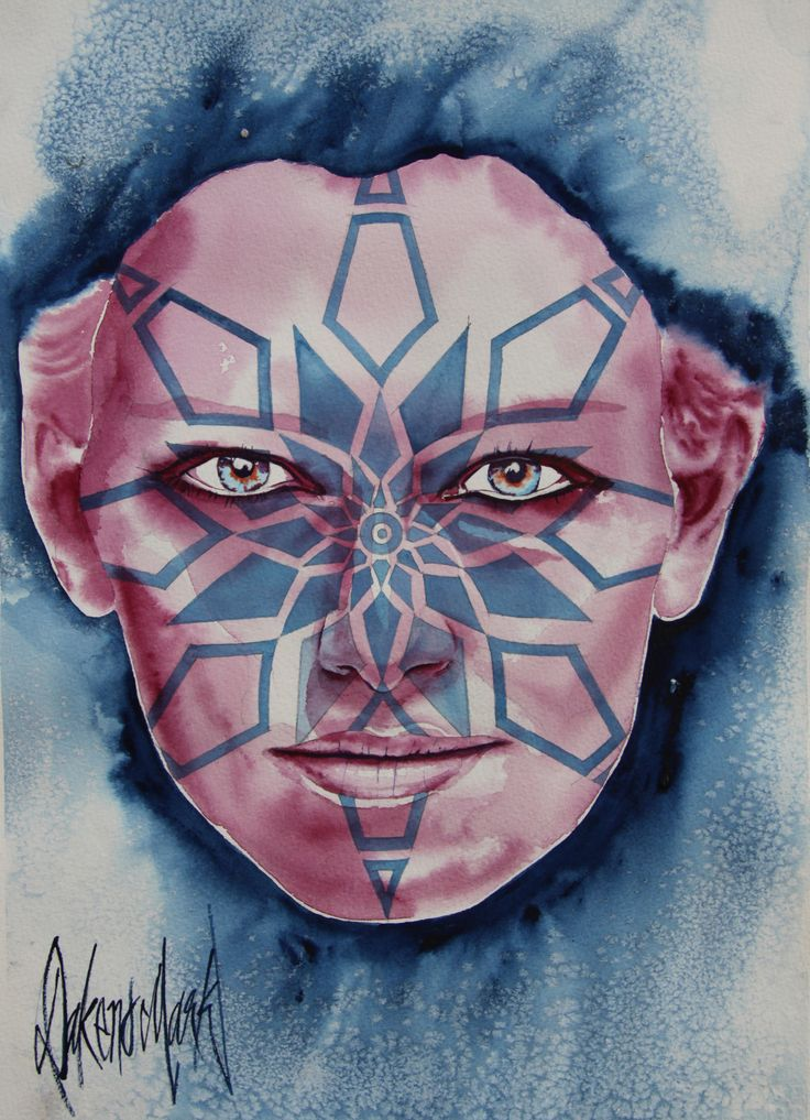 Cervene,  watercolour by Dakeno Mark