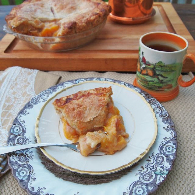 The Alchemist - Fresh Peach Pie made with Fresh Peaches with a super buttery and flaky crust.