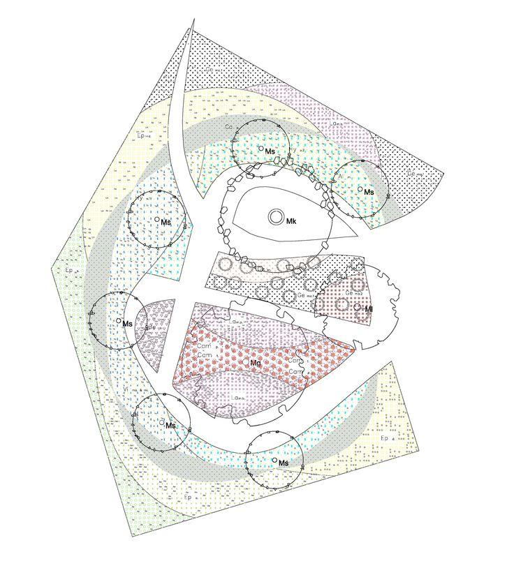 Roeterseiland Campus – University of Amsterdam, Planting Plan by Petra Blaisse