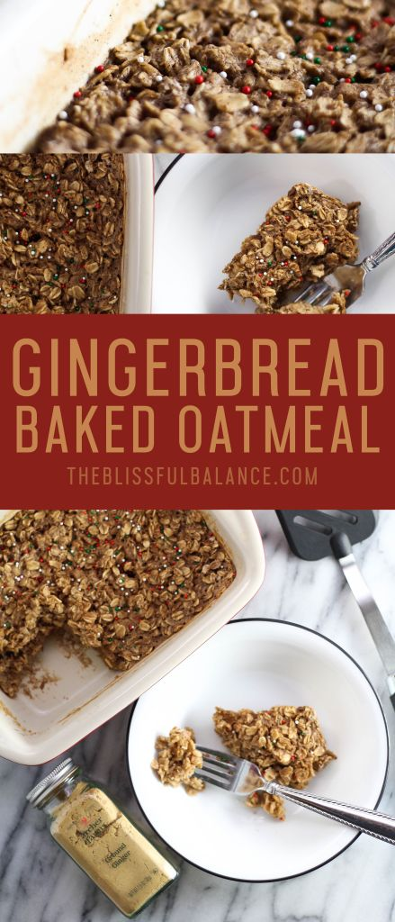 Gingerbread Baked Oatmeal | the blissful balance