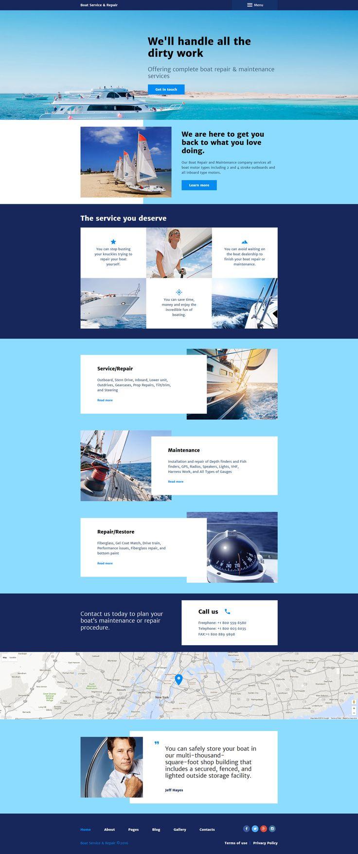 Boat Service Repair Joomla Template…