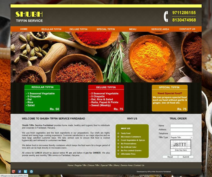 Shubh Tiffin Service Faridabad Offers Tiffin Service To Individuals And Corporate Sector In Faridabad Hr Business Ideashomes
