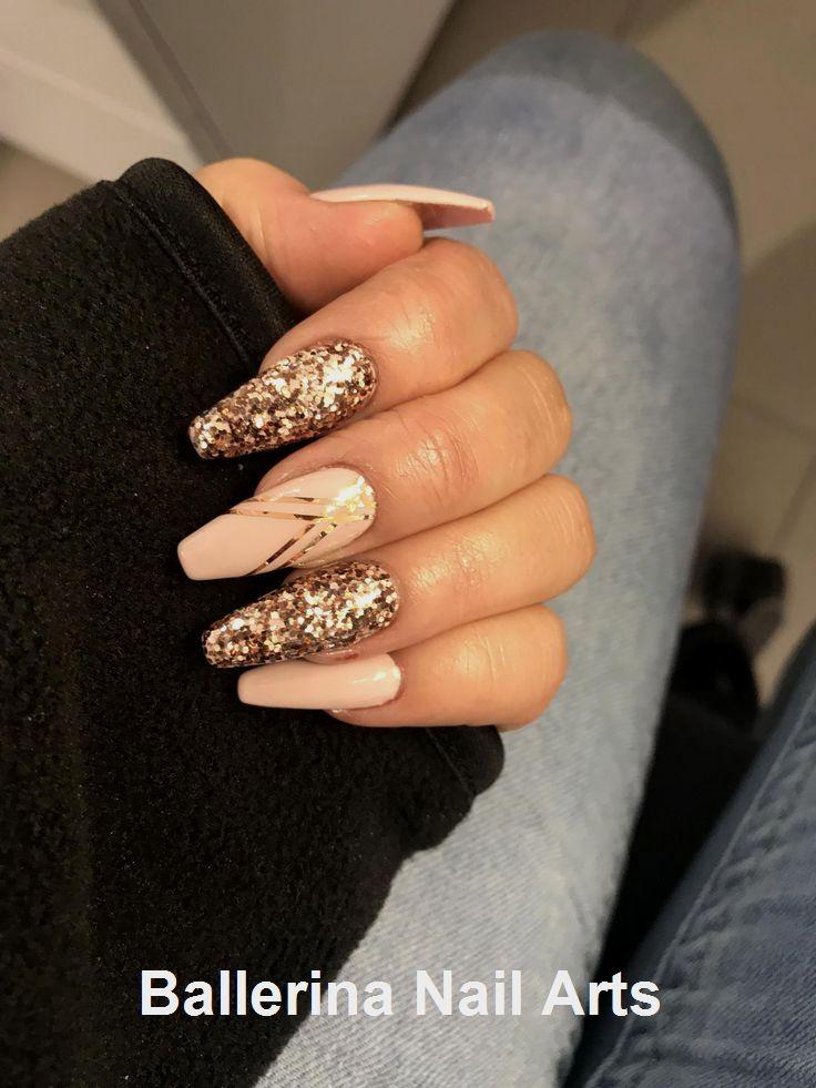 Angesagte Designs in Ballerina nails #naildesign #nailart