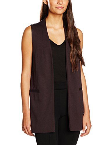 New Look Women s Sleeveless Suit Jacket Sleeveless Jacket Red (Dark  Burgundy) 10 (Manufacturer cda9f1fdb