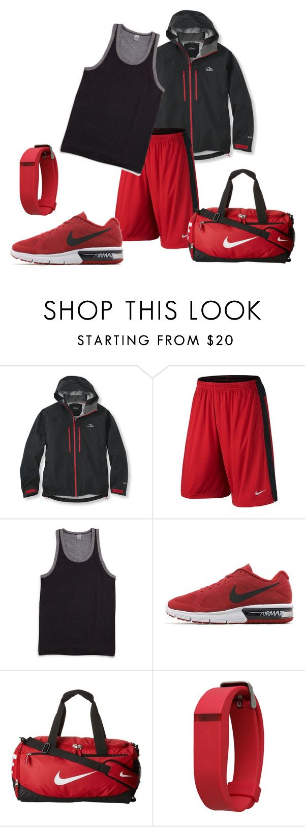 """Workout Clothes"" by roses-are-red1029 ❤ liked on Polyvore featuring L.L.Bean, NIKE, 2(x)ist, Olivia Pratt, men's fashion and menswear"