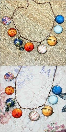 Planetarium Bracelet #planetarium #bracelet Planetarium Necklace #planets #solar #system #saturn #neptune #venus #uranus