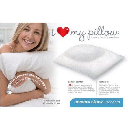 I Love My Pillow Queen SIze Contour Pillow