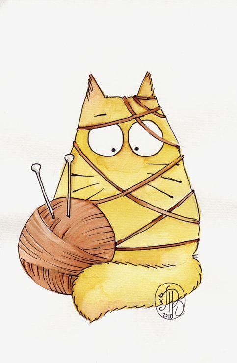Кошка смешной рисунок, оперативного работника