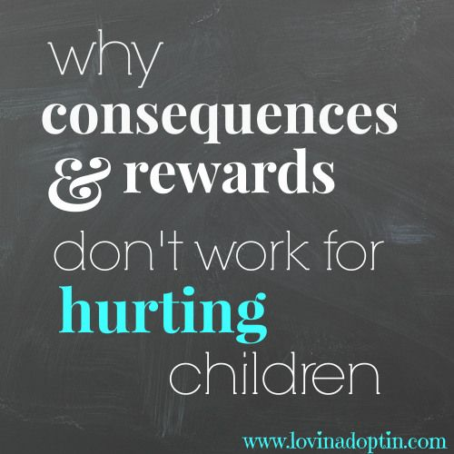 Why don't consequences, discipline, and rewards work with some adopted children? This question is asked by adoptive parents every day. Find out why on www.lovinadoptin.com #adoption #attachment #fostercare
