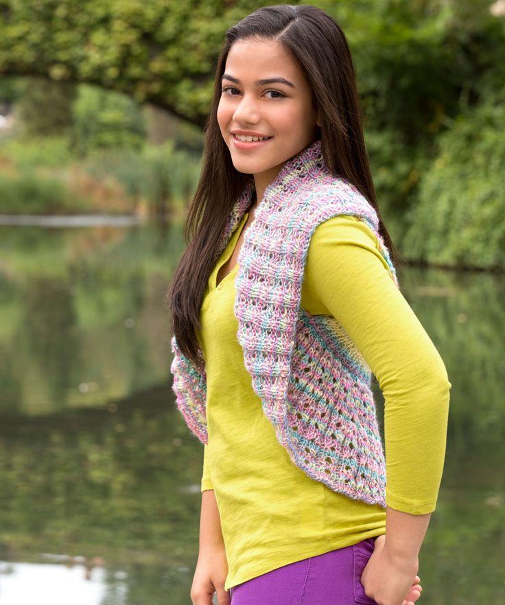 Teen Endless Circle Vest Knitting Pattern | Red Heart