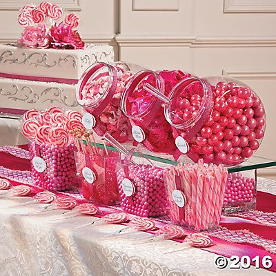 Pink Candy Buffet Idea