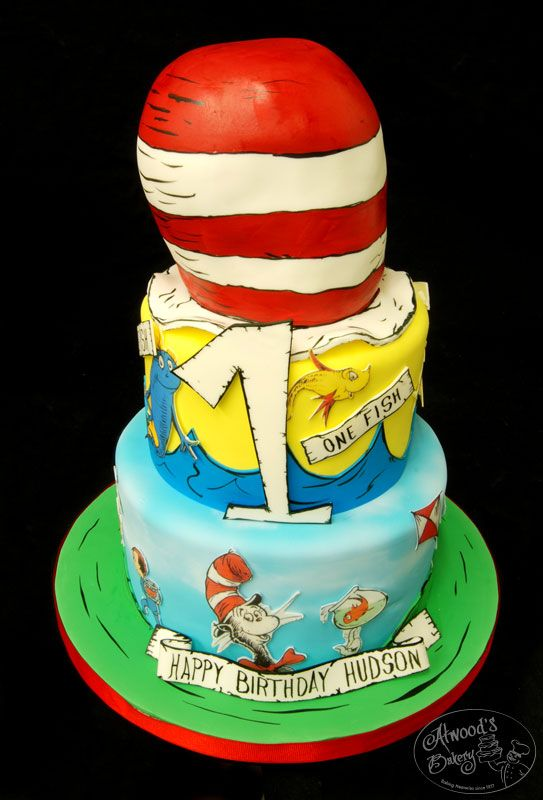Dr. Seuss!!: Dr. Suess Cakes, 1St Birthday Parties, Cakes Ideas, 1St Birthday Cakes, Parties Ideas, Red Fish, 2Nd Birthday, Dr. Seuss, Birthday Ideas