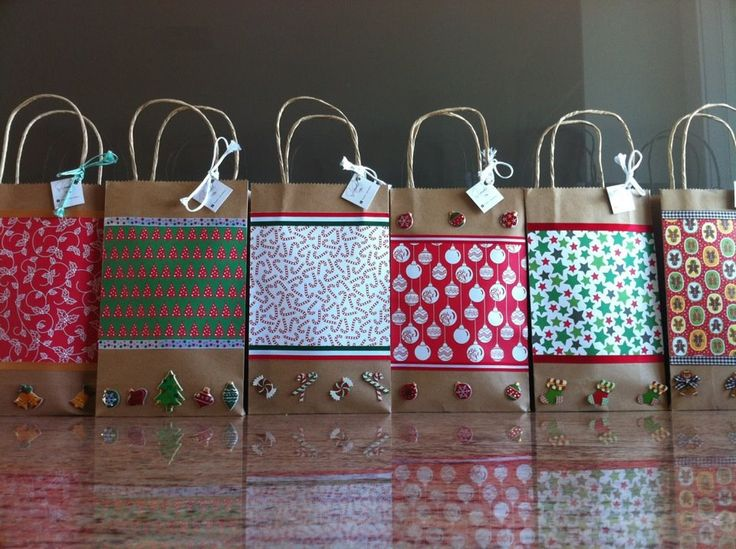 Christmas gift bags - candy canes, hot coco mix, candy, games, etc.