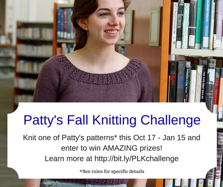 Join Patty's Fall Knitting Challenge for the chance to win great prizes, and make some great projects, like the Zig Zag Rib Raglan! Drawings are weekly, check out my blog to learn how to enter!