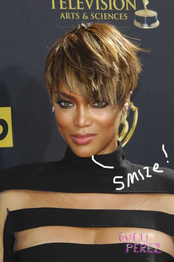 Tyra Banks Rocks Fierce Short Haircut At Daytime Emmy Awards!