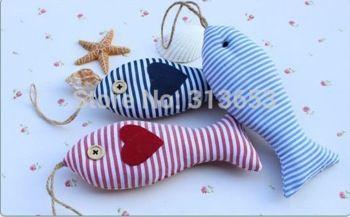 warm te koop kleurrijke doek kerst huisdecoratie vis/bruiloft decoratie/handgemaakte hanger ornamentstextile& stof ambachten