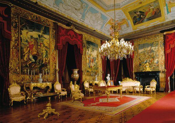 Fotografia da Sala do Despacho do Palácio da Ajuda