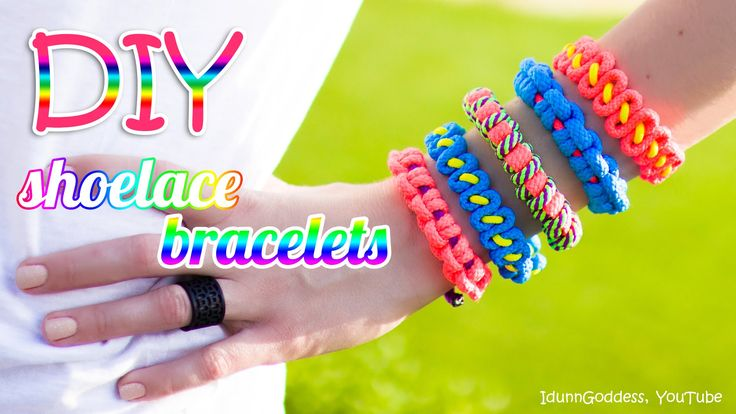 3 DIY Shoelace Bracelets – How To Make A Bracelet Out Of A Shoelace (tut...