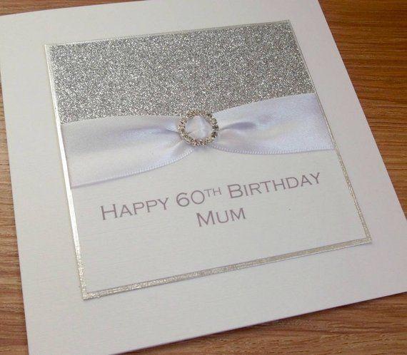 Handmade 60th Birthday Card Mum Personalised 18th 21st Etsy 60th Birthday Cards Birthday Cards Birthday Cards For Mum
