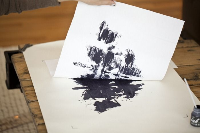 DIY Rorschach Ink Blot Placemats