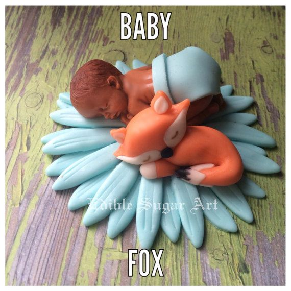 WOODLAND FOX BABY SHOWEr Deer Cake Topper by BabyCakesByJennifer