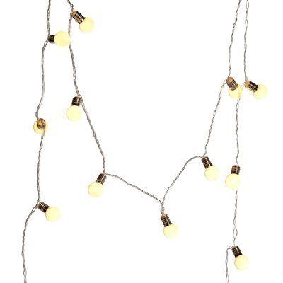 Lichterkette Glühbirne Outdoor 16 LEDs ca L:200cm, weiß