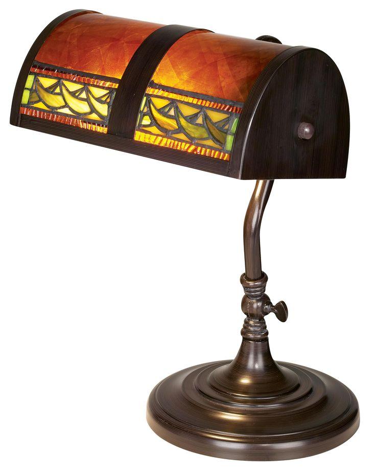 Bronze And Mica Piano Lamp
