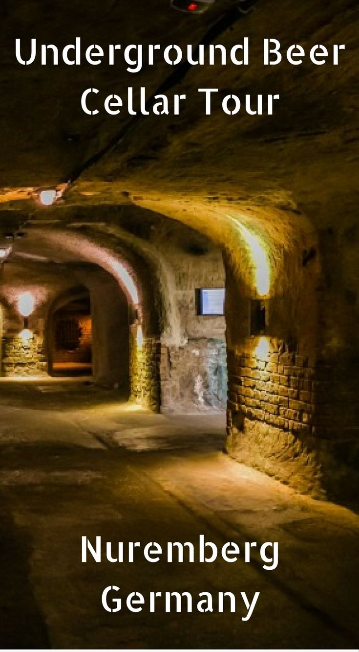 Underground Beer Cellar Tour in Nuremberg Germany. If you buzz out of town without spending a night, you won't have a chance to head underground at the Altstadthof Brewery for a guided tour of their historic rock-cut cellars. I think it is safe to say that for the amount of space above ground in Nuremberg, the equal exists just below it in traditional beer storage. Click to read more at http://www.divergenttravelers.com/2-days-in-nuremberg-germany/